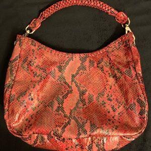 NWOT (never used) Sondra Roberts red python bag